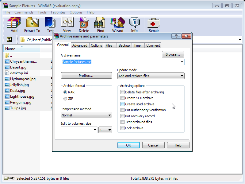 Download WinRAR for Windows Vista for free