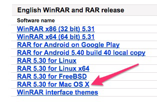 How to use WinRAR archiver for Mac OS
